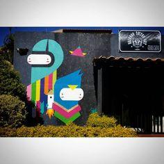 Trampo realizado na fachada do studio Brennoo Tattoo Art em São Sebastião Brasília - DF