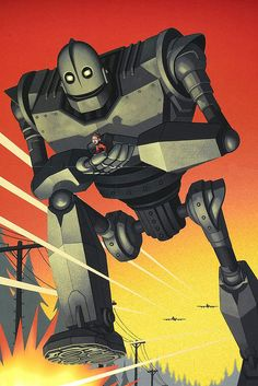 The Iron Giant is the perfect BFF costume for Halloween