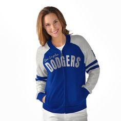 Los Angeles Dodgers G-III Sports by Carl Banks Women's Wild Card Varsity Full-Zip Jacket - Royal/Silver - $64.99