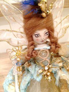 Ooak Christmas Tree Fairy Doll - Madame Pompadour by FabulousFairyFactory on Etsy