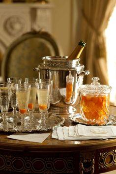 Stealing Magnolias ~ Kumquat Champagne Cocktails