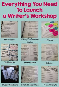 So many great ideas for launching a Writer's Workshop! Detailed ideas for starting and organizing writer's workshop. Lessons on setting expectations, conferencing, mini-lessons, and so much more! Specific elementary grade units for personal narratives, fi