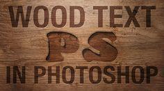 Photoshop: Wood Text Effect (Photoshop CS6)   IceflowStudios.