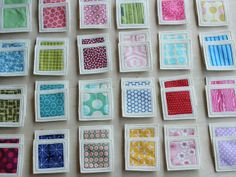 Fabric memory game idea (for Clara's weekly fabrics).