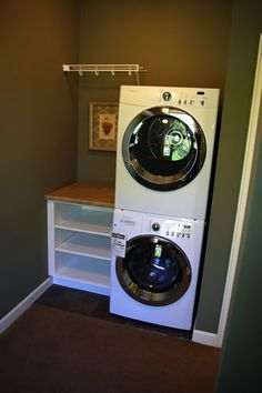master closet with washer and dryer - Google Search