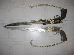 Steampunk Gunblades by darzeth