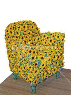 Sunflower Chair sunflower bench | craft ideas | pinterest | sunflowers