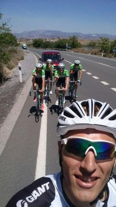 "Marcel Kittel takes a selfie and commented: ""The Belkin boys were a bit upset when I passed them uphill today..."""