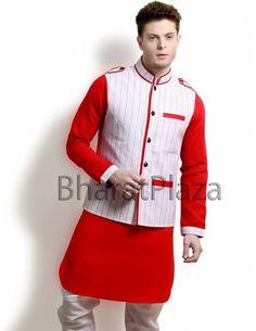 Opulence Linen Jacket Pathani Suit. Item code: SKB2704RJ