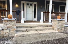 Ok... well the steps are installed... what do you think?  These look like a good fit right?  We still need to grout the gaps but these are basically done... now we need to put down the gravel for the walk way to the steps.