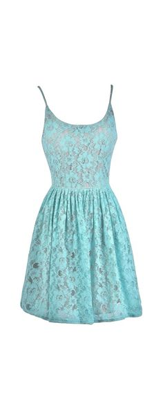 Lily Boutique Spring Forward Mint and Beige A-Line Lace Dress, $38 Mint and Beige Lace A-Line Dress, Cute Mint Dress, Cute Sundress, Mint Summer Dress www.lilyboutique.com