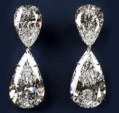 Most expensive earrings ever in the world. Harry Winston Extraordinary Diamond Drop Earrings.