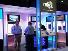 Rako Controls - always glad to meet them and enjoy the warm blue light of their booth! Dimming systems with wireless control.