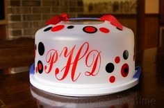 Order one for $17 or use your Cricut to make your own....great for getting your cake taker back!