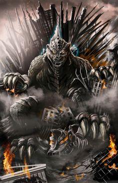 Joe Galvan Art: Godzilla