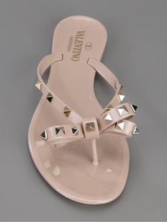 28f854feb642b4 Valentino Rockstud Thong Sandal Plastic Sandals