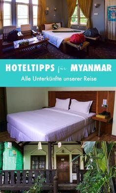 Wir sind einen Monat durch Myanmar gereist und haben in dieser Zeit natürlich auch eine ganze Menge Hotels von innen gesehen. In diesem Beitrag stellen wir dir alle unsere Hotels in Myanmar vor und verraten dir, ob es sich lohnt, dort zu übernachten.