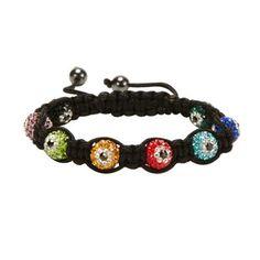 Multi Color Shamballa Evil Eye Crystal Bracelet #Kalifano