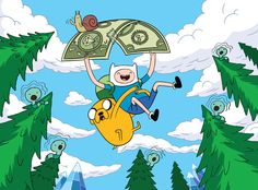 Finn and Jake (Adventure Time) This cartoon absolutely charms me every time.