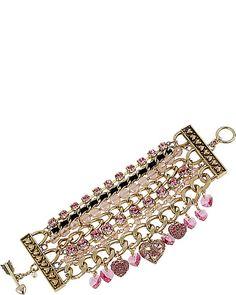 ICONIC PINKALIOUS MULTI ROW BRACELET FUSCHIA accessories jewelry bracelets fashion