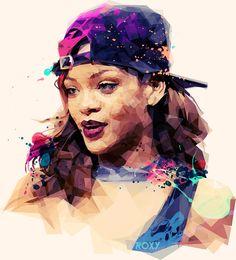 Roxy Color on Behance #Rihanna #fan art #rihanna illustrations #rihanna drawings…