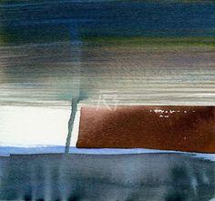 GRISAZUR: Acuarela sobre papel, 16,5x17,5 cm.Mar. 9, 2015