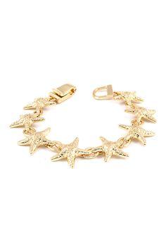 Hammered Starfish Bracelet