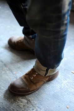 redwingshoestoreamsterdam:  Pair of 8113 Iron Rangers with East Dust denim