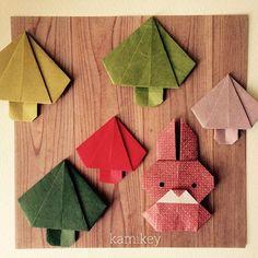 "Sep.23. 2015 「きのこ」 「うさぎ3」 100均の木目柄折り紙、背景に使いましたが、リースに使ってもいいですね^ ^ 作り方は、YouTube の「kamikey origami 」チャンネルにて Mushroom Bunny 3 designed by me tutorial on YouTube "" kamikey origami"" * #origami#折り紙#ハンドメイド"