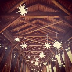 Moravian stars via Haskell Harris ... for my barn (thanks, Tessa!)