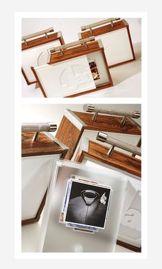 Custom Portfolio Box for Jad Ryherd Photography by Dave Edwards, via Behance Portfolio Book, Portfolio Design, Portfolio Ideas, Bunting Design, Jad, Handmade Books, Branding, Book Making, Box Design
