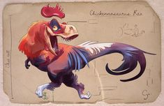 Claire Gary is an artist working at EA's Motive studio in Canada as an animator. Dinosaur Illustration, Illustration Art, Illustrations, Jurassic Park, Lyon, Character Art, Character Design, Cartoon Chicken, Prehistoric Creatures