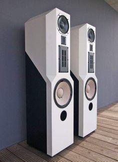 Lautsprecher ACR Isostatic Lack weiss/schwarz in TV, Video & Audio… Audiophile Speakers, Speaker Amplifier, Hifi Audio, Big Speakers, Tower Speakers, Speaker Box Design, Full Hd 1080p, Audio Design, Audio Sound