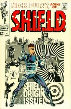 Nick Fury, Agent of S. Vol. 1 Animated by: Kerry Callen. Original cover by Jim Steranko. 30 Animated Comic Book Covers That Are Downright Hypnotizing Marvel Comics, Comics Anime, Comic Manga, Bd Comics, Nick Fury, Comic Book Superheroes, Marvel Comic Books, Comic Books Art, Comic Art