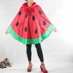water melon rain poncho