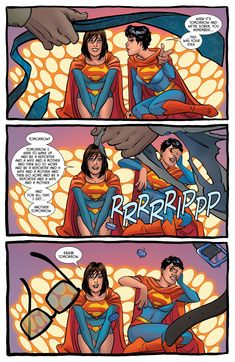 Lois Lane & Selina Kyle, part 3 of 3 by Amanda Conner I really enjoyed this issue, where Lois & Catwoman break into the Fortress of Solitude for Selina's hen night… Batman Vs Superman, Batman Comics, Funny Comics, Batman Universe, Comics Universe, X Men, Barbie, Comic Panels, Detective Comics