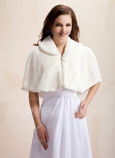 Faux Fur Wedding Wrap (013005747)