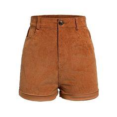 Loose Shorts, Casual Shorts, Short Shorts, Cute Shorts, Streetwear Shorts, Corduroy Shorts, Brown Shorts, Look Vintage, Office Ladies