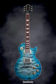 Gibson Les Paul Standard Premium Quilt - 2014, Ocean Water | Sweetwater.com