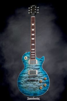 Gibson Les Paul Standard Premium Quilt - 2014, Ocean Water   Sweetwater.com