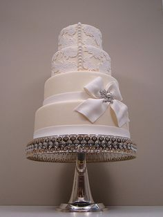 Lace Wedding Cake (4 ), #wedding #cake