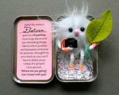 A little craft to do with a leftover Altoid's box; so creative.