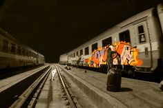 train #bombing #graffiti steel