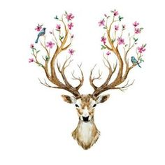 Hot-Selling-3D-Sticker-Muraux-Animal-Deer-Head-Wall-Stickers-For-Kids-Rooms-Bedroom-Flower-Vintage.jpg (800×800)