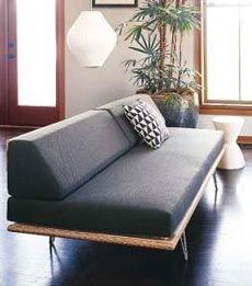 "This classic mid-century modern ""Case Study Daybed"" was influenced by the Case Study House program, 1949."
