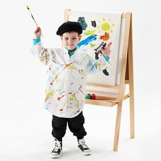 What a cute artist costume! Get more costume inspiration: http://www.bhg.com/halloween/kids-costumes/easy-to-make-kids-costumes/