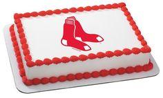 MLB Boston Red Sox Edible Icing Sheet Cake Decor Topper