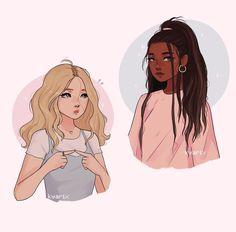 Cute Bear Drawings, Cute Girl Drawing, Cartoon Drawings, Cartoon Art, Cute Anime Character, Character Art, Art Inspo, Kunst Inspo, Cute Art Styles