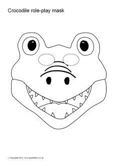 Crocodile role-play masks (SB1488) - SparkleBox