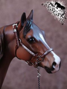 Custom Crafted Traditional (1:9) Model Horse Show Halter fits Breyer Peter Stone